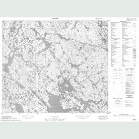 Canadian Topo Map - Map 013M02