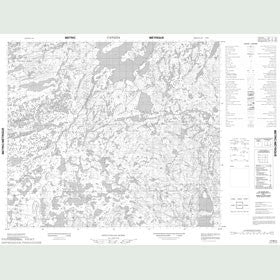 Canadian Topo Map - Map 013M03