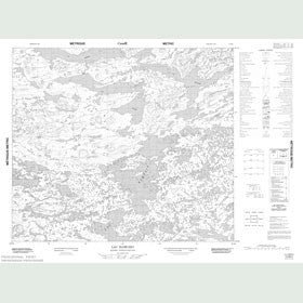 Canadian Topo Map - Lac Ramusio - Map 013M04