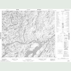 Canadian Topo Map - Map 013M06