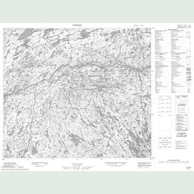 Canadian Topo Map - Map 013M07