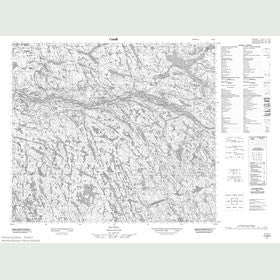 Canadian Topo Map - Map 013M08