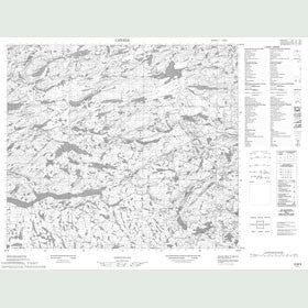 Canadian Topo Map - Map 013M09