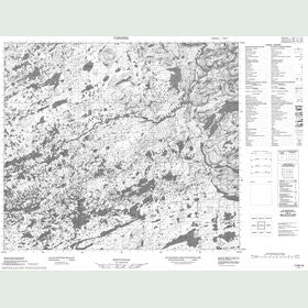 Canadian Topo Map - Map 013M10