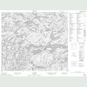 Canadian Topo Map - Map 013M11