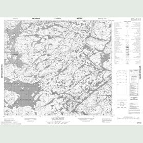 Canadian Topo Map - Lac Machault - Map 013M12