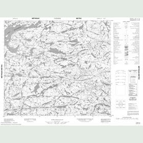Canadian Topo Map - Map 013M13