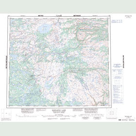 Canadian Topo Map - Mistastin Lake - Map 013M