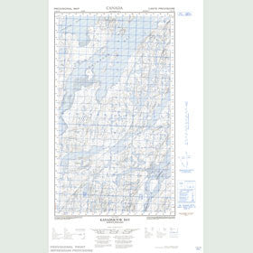 Canadian Topo Map - Kanairiktok Bay - Map 013N01W