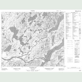Canadian Topo Map - Udjuktok Bay - Map 013N02