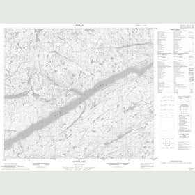 Canadian Topo Map - Harp Lake - Map 013N04