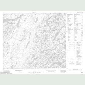 Canadian Topo Map - Map 013N07