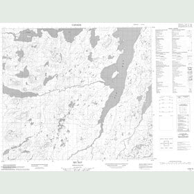 Canadian Topo Map - Big Bay - Map 013N10