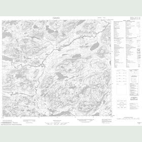 Canadian Topo Map - Map 013N11