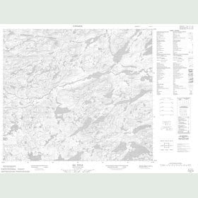 Canadian Topo Map - Map 013N12