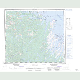 Canadian Topo Map - Hopedale - Map 013N
