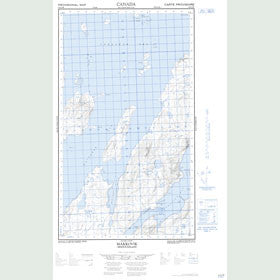 Canadian Topo Map - Makkovik - Map 013O03W