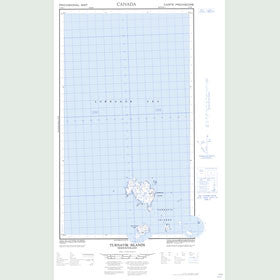 Canadian Topo Map - Turnavik Islands - Map 013O06