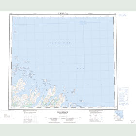 Canadian Topo Map - Makkovik - Map 013O