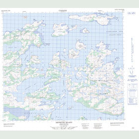 Canadian Topo Map - Akpiktok Island - Map 014C03