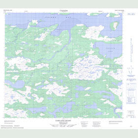 Canadian Topo Map - Garland Bight - Map 014C04