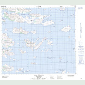 Canadian Topo Map - Ford Harbour - Map 014C06