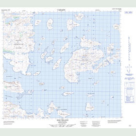 Canadian Topo Map - Dog Island - Map 014C11