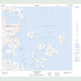 Canadian Topo Map - David Island - Map 014C14