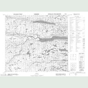 Canadian Topo Map - Cabot Lake - Map 014D02