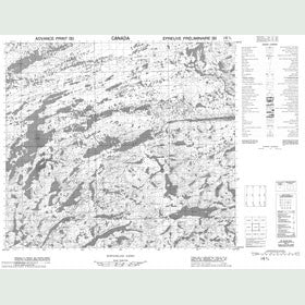 Canadian Topo Map - Hawk Lake - Map 014D04