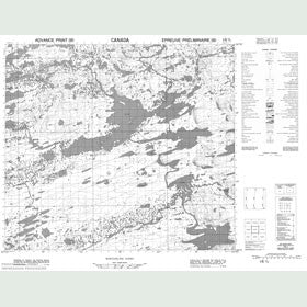 Canadian Topo Map - Map 014D05