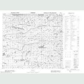 Canadian Topo Map - Ikadlivik Brook - Map 014D07