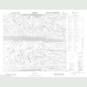 Canadian Topo Map - Tasisuak Lake - Map 014D10
