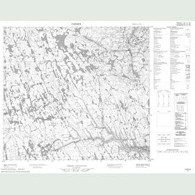 Canadian Topo Map - Map 014D14