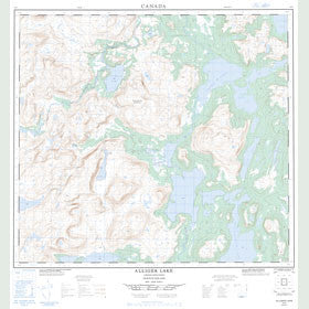 Canadian Topo Map - Alliger Lake - Map 014E01