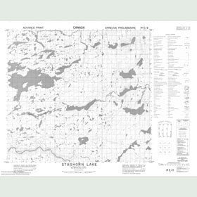 Canadian Topo Map - Staghorn Lake - Map 014E02