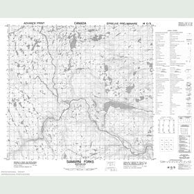 Canadian Topo Map - Siamarni Forks - Map 014E03