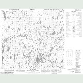 Canadian Topo Map - Lac Pilliamet - Map 014E05
