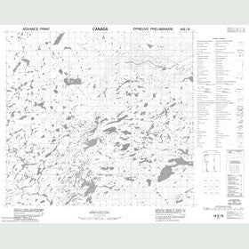 Canadian Topo Map - Map 014E06