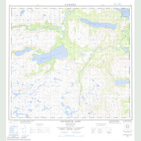 Canadian Topo Map - Umiakovik Lake - Map 014E07