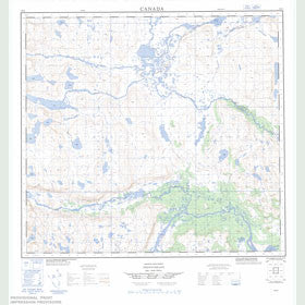Canadian Topo Map - Map 014E10