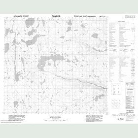 Canadian Topo Map - Map 014E11