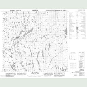 Canadian Topo Map - Lac Courdon - Map 014E12