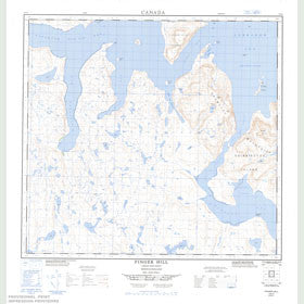 Canadian Topo Map - Finger Hill - Map 014E16