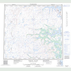 Canadian Topo Map - North River - Map 014E