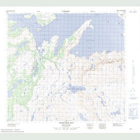 Canadian Topo Map - Avakutak Bay - Map 014F04