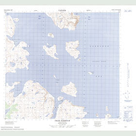 Canadian Topo Map - Okak Harbour - Map 014F12