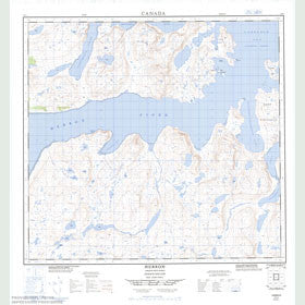 Canadian Topo Map - Hebron - Map 014L02