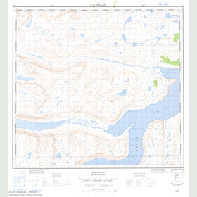 Canadian Topo Map - Ikarut River - Map 014L03