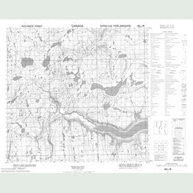 Canadian Topo Map - Map 014L04